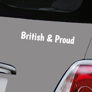 British and Proud - White