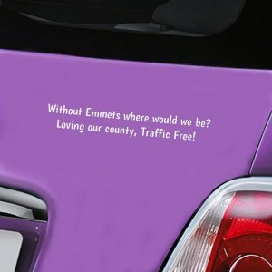 Emmets Traffic Free Decal - White