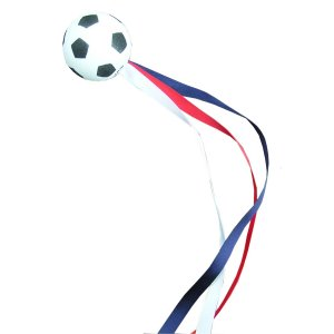 Football with ribbons - RWB