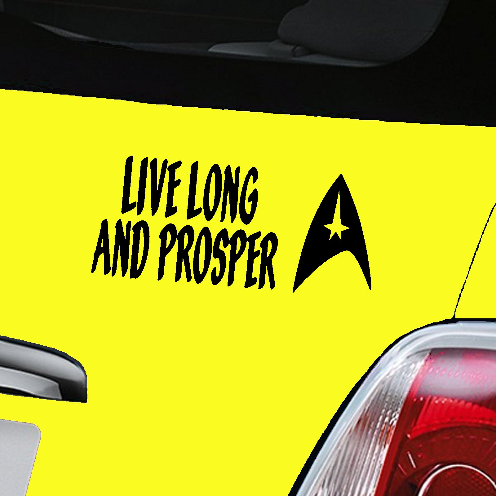 Live Long And Prosper Decal - Black