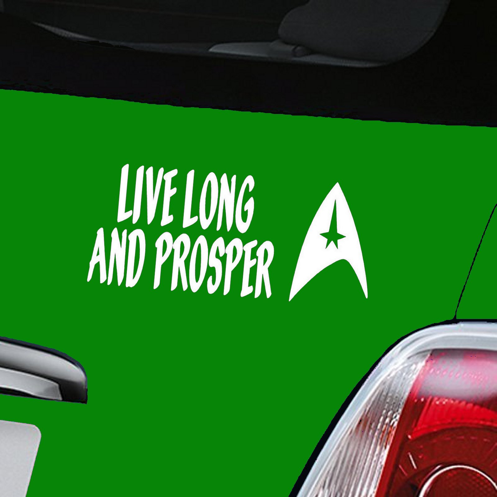 Live Long And Prosper Decal - White