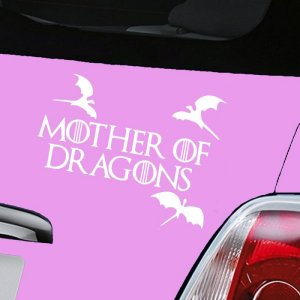 Mother of Dragons Decal - White