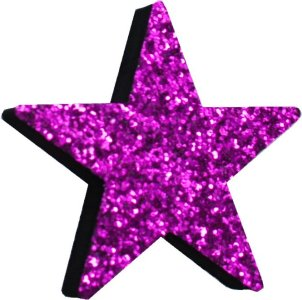 Electric Purple Glitter Star