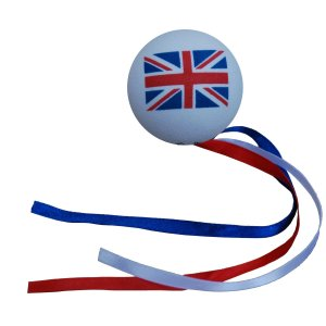Union Jack Flag Ribbon Ball