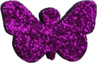 Purple Glitter Butterfly