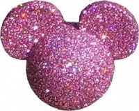 Rare Disney Minnie Mouse Pink Glitter - 1 left