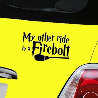 Harry Potter Firebolt Decal - Black
