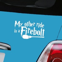 Harry Potter Firebolt Decal - White