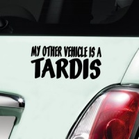 My Other Vehicle Is A Tardis Decal - Black
