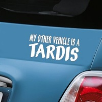 My Other Vehicle Is A Tardis Decal - White