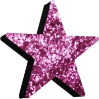 Pink Glitter Star - only 1 left