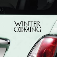 Winter Is Coming Decal - Black