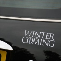 Winter Is Coming Decal - White