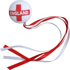 England Flag Ribbon Ball