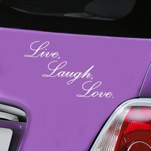 Live, Laugh , Love - White