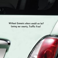 Emmets Traffic Free Decal - Black