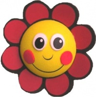 Red Smiley Flower