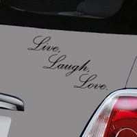 Live, Laugh , Love - Black