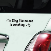 Sing like no one is watching! - Black